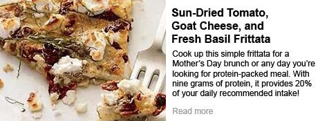 Sun-Dried Tomato, Goat Cheese, and Fresh Basil Frittata