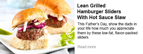Lean Grilled Hamburger Sliders With Hot Sauce Slaw