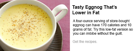 Tasty Eggnog That's Lower in Fat