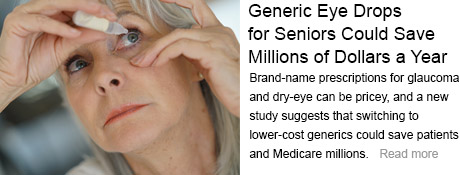 Generic Eye Drops for Seniors Could Save Millions of Dollars a Years