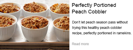 Perfectly Portioned Peach Cobbler