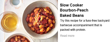 Slow Cooker Bourbon-Peach Baked Beans