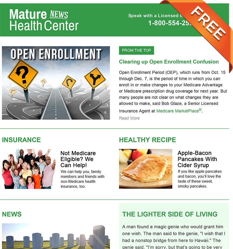 Mature Health Center eNewsletter