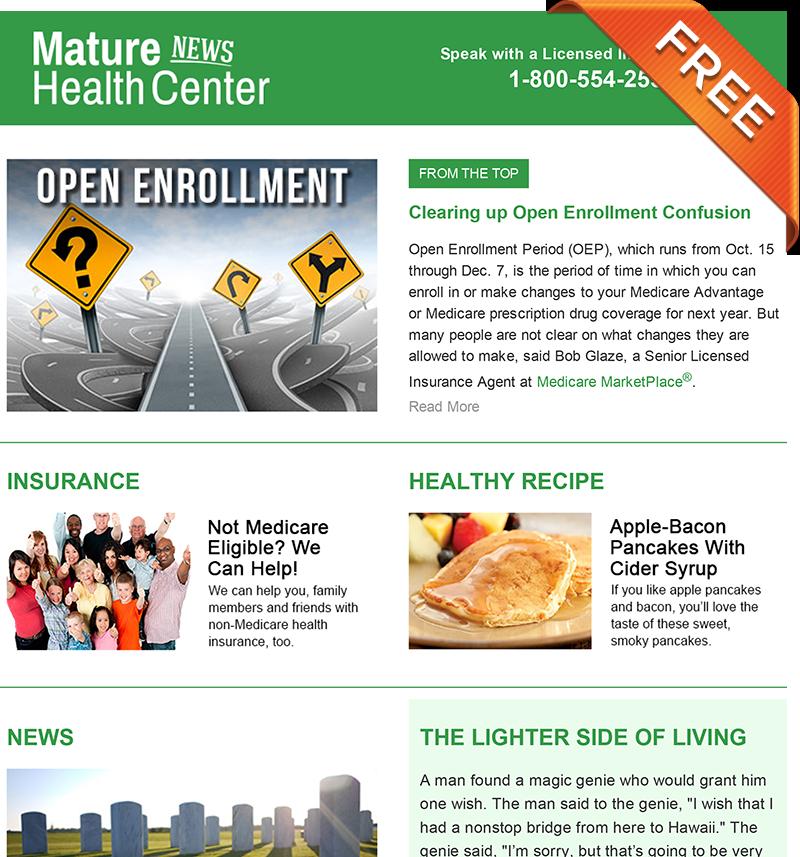Mature Health Center eNewsletter