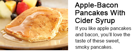 Apple-Bacon Pancakes with Cider Syrup Recipe