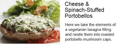 Cheese & Spinach-Stuffed Portobellos Recipe