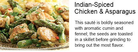 Indian-Spiced Chicken & Asparagus Recipe