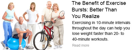 The Benefit of Exercise Bursts: Better Than You Realize